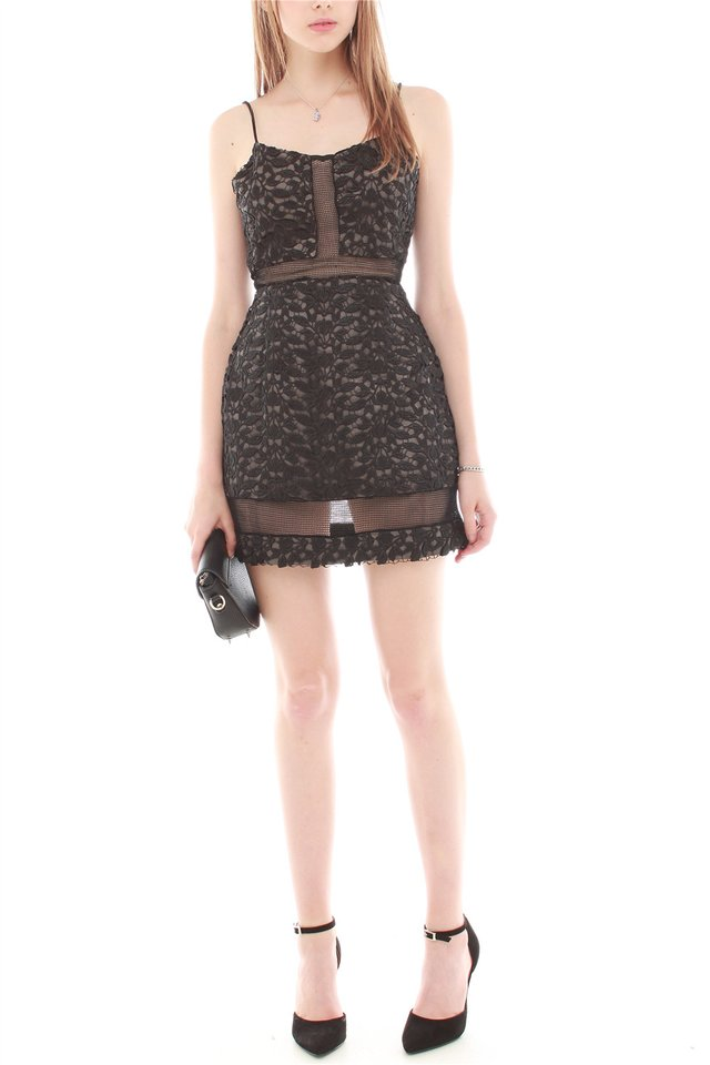 Intricate Crotchet Mesh Insert Dress
