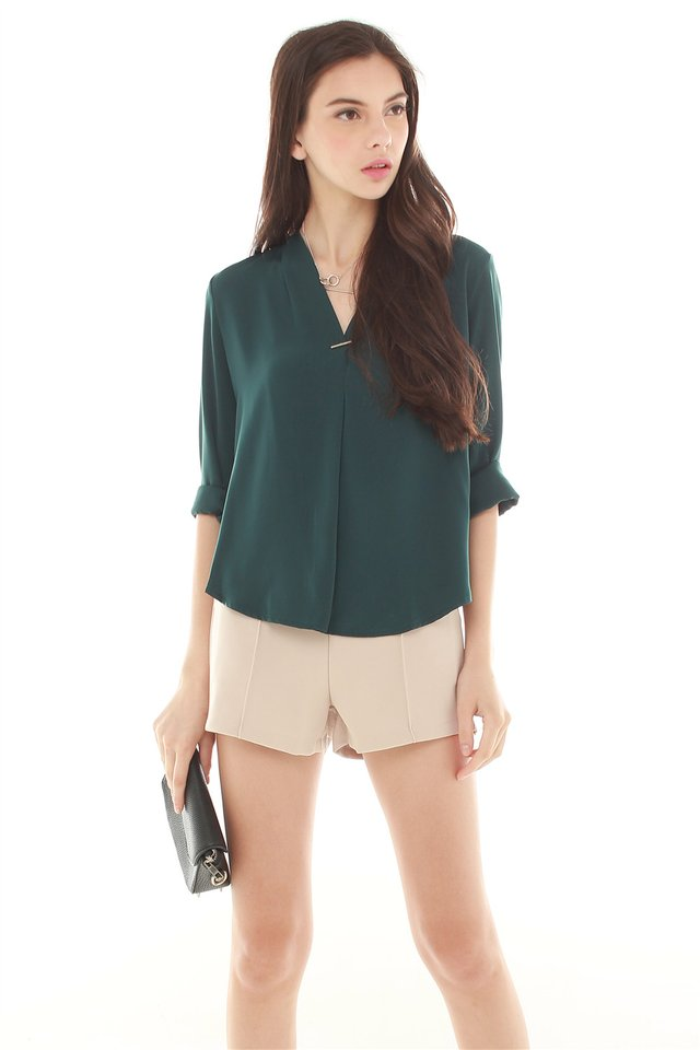 *BACK IN STOCK* Interlock Shirt in Emerald