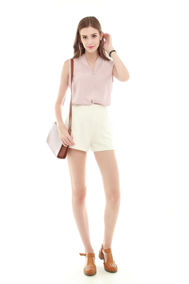 Interlock Sleeveless Top in Dusty Pink