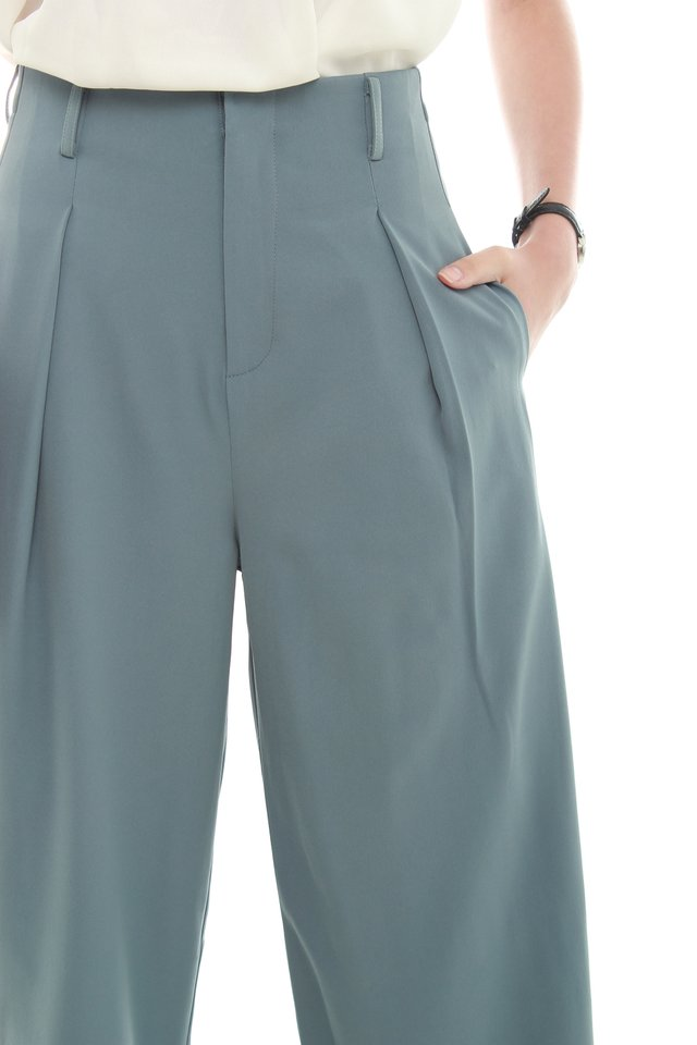 ACW Straight Cut Culottes in Ash Blue (XS/L)