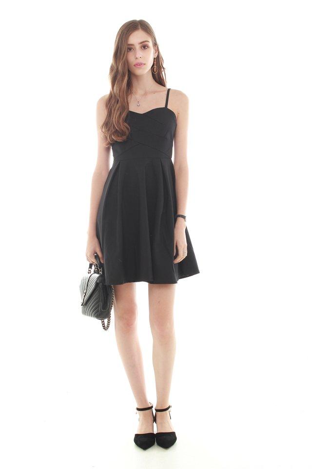 *Backorder* Twirling Cami Dress in Black