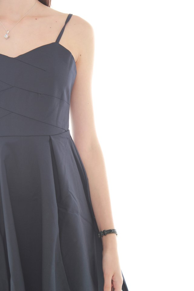 Twirling Cami Dress in Navy