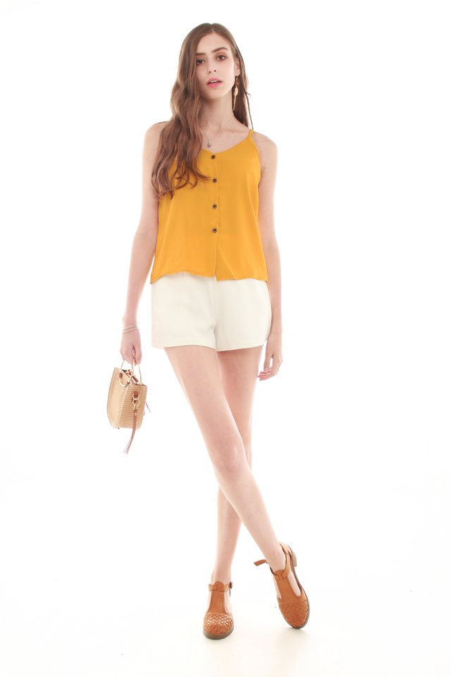 *BACK IN STOCK* Button Down Cami Top in Mustard