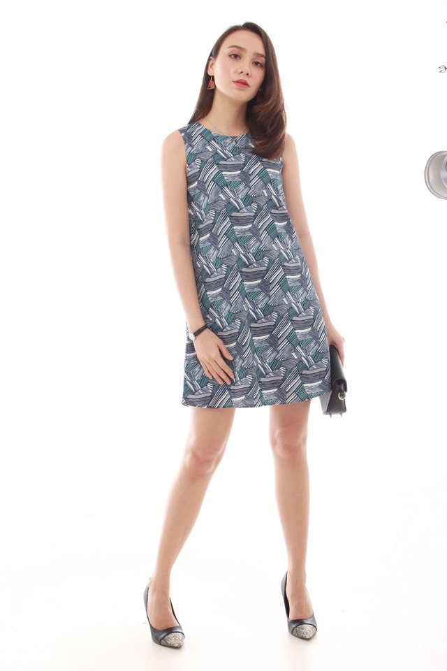 Abstract Printed Dress