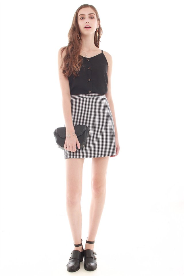 *BACK IN STOCK* Button Down Cami Top in Black
