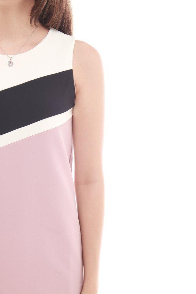 Triple Lined Colourblock Shift Dress