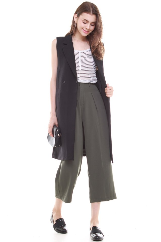 ACW Straight Cut Culottes in Olive (XS/L)