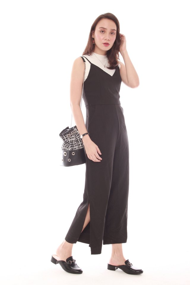 *BACK IN STOCK* Basic Strapped Jumpsuit in Black