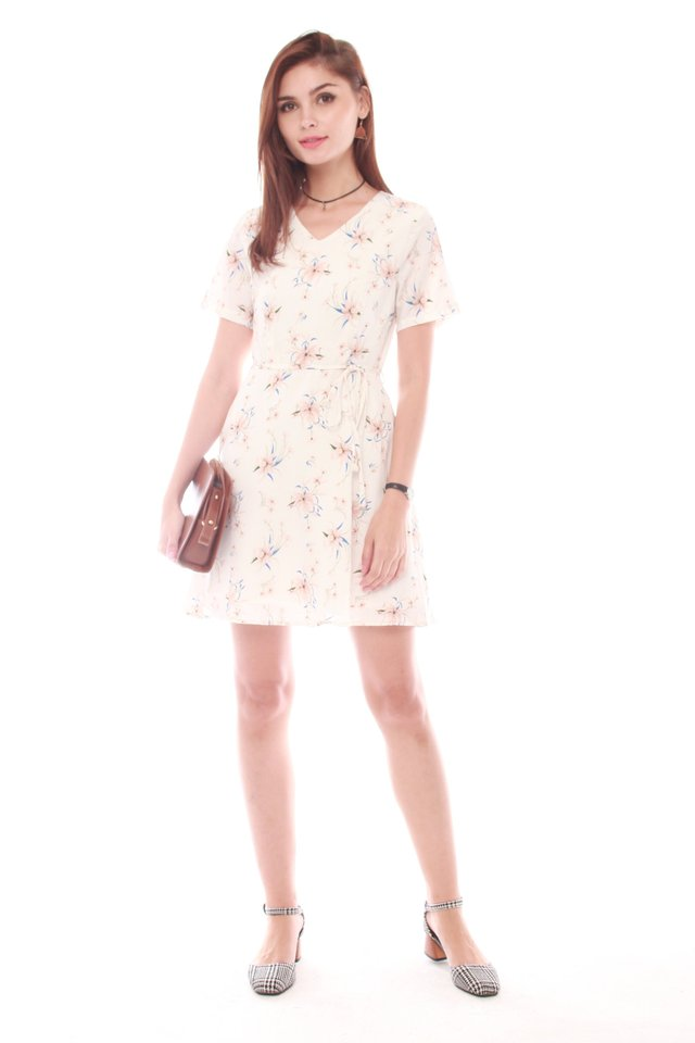 *Backorder* French Marigold Swing Dress in White