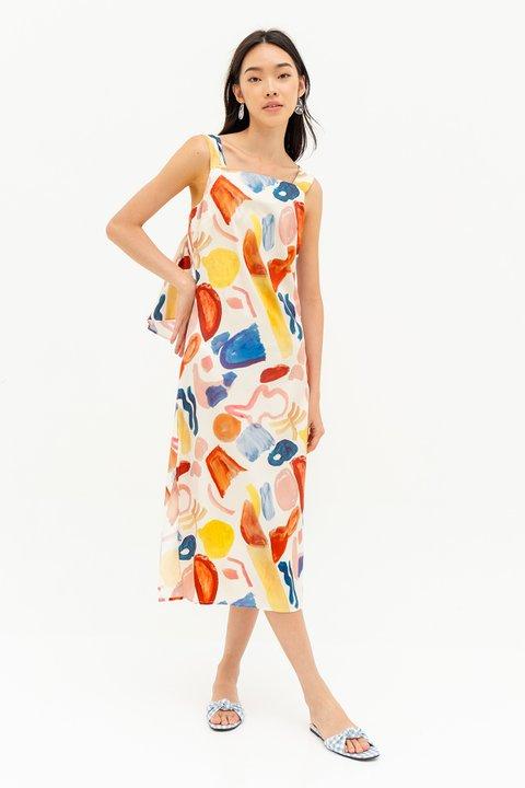 CATALINA DRESS - WATERCOLOURS