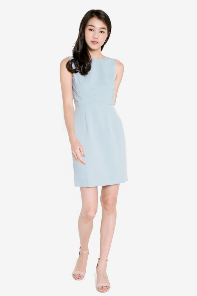 Jule Tulip Work Dress (Sky Blue)